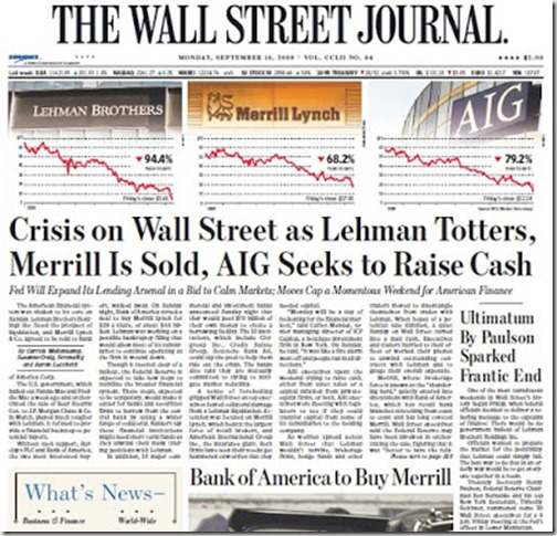 WSJ - Front Page (Sept. 15, 2008) #2