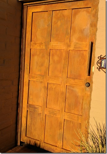 I Wanted A Custom Built Iron Patio Door The Catalina Foothills
